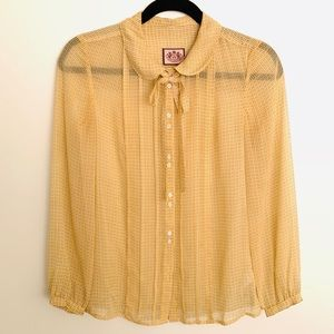 Juicy Couture Silk Button Down Blouse